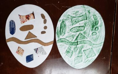 Project – Texture Rubbing – The Egg Collagraph