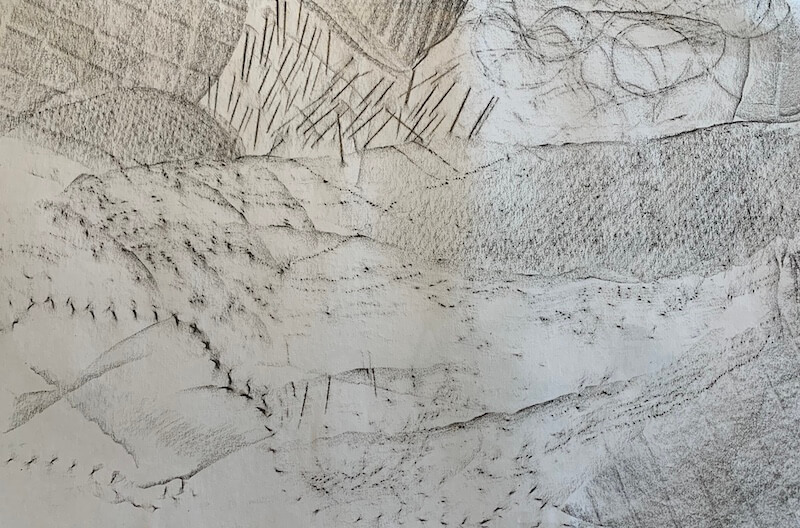 Project – Texture landscape using frottage